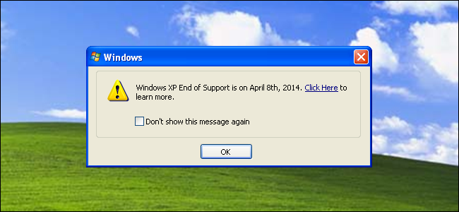 Windows XP – End of Microsoft Support